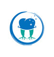 logo design for healthy bones and teeth vector image