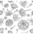 marigold seamless pattern vector image vector image