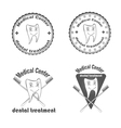 Medical Center dental treatment vector image