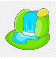 mountain waterfall icon cartoon style vector image