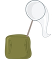 Net and satchel vector image vector image