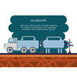 oil industry with transport truck vector image vector image