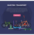 one and two wheeled mobility electric vehicle vector image vector image