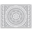 openwork mandala design in ractanle vector image