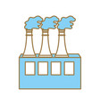 pollution factory contaminating the environment of vector image vector image