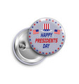 presidents day buttonbadgebanner isolated with vector image vector image