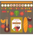 Printable set of hawaii party elements Templates vector image