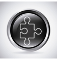 Puzzle button Silhouette icon design