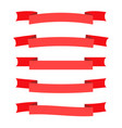 red ribbon banners set beautiful blank for vector image vector image