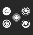 round logo black and white radial ripples vector image
