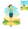 Running woman morning jogging vector image vector image