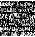 Seamless Merry Christmas pattern vector image vector image