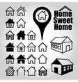 set home icons vector image vector image