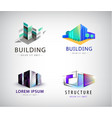 set of colorful real estate logos city and vector image vector image