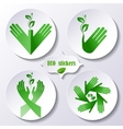 Set of stickers icons environmental protection vector image vector image