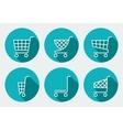 Set of Supermarket trolley vector image