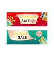 set two christmas sale card templates vector image vector image