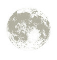 silhouette of full moon hand drawn on white vector image vector image