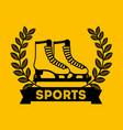 skates sport emblem icon vector image vector image