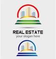 Skyscraper house logo vector image vector image