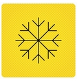 Snowflake icon Snow sign Air conditioning vector image