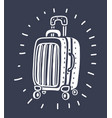 suitcase for travel on isolated white background vector image vector image