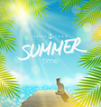 Summer Holidays design vector image vector image