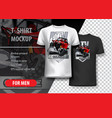 t-shirt template fully editable with red off-road vector image