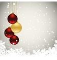 three christmas balls vector image vector image