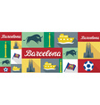 travel and tourism icons Barcelona vector image vector image
