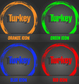 Turkey icon Fashionable modern style In the orange vector image