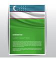 uzbekistan flag design vector image