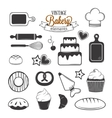Vintage bakery elements vector image vector image