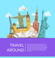 world sights background with place for text vector image vector image