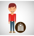 young boy fathers day celebration gift vector image vector image