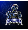 zombie undead mascot logo design vector image