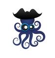 Beautiful tropical octopus vector image