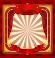 circus frame poster background vector image