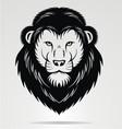 Black Lions Head Mascot vector image