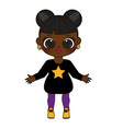 african american kid girl in fashionable clothes vector image vector image