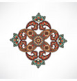 arabic flower ornament floral background abstact vector image