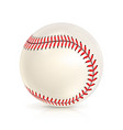 baseball leather ball isolated on white softball vector image vector image