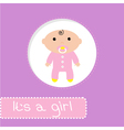 bashower card its a girl vector image vector image