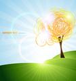 beautiful tree design vector image