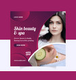beauty and spa social media ads-post template vector image vector image