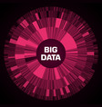 big data visualization red futuristic circular vector image vector image