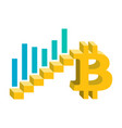bitcoin growth concept vector image