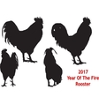 Black Rooster four positions vector image vector image