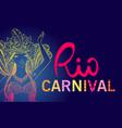 brazil carnival dancing girl vector image