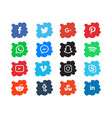brush background social media icon template vector image vector image